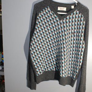 Original Penguin Grey and Baby Blue XL Pullover